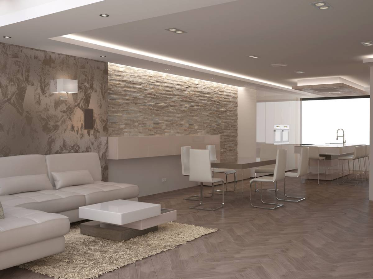 Image showing ways to use stone in home decor.